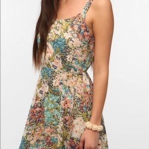 Lucca couture flower print dress / small